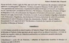 IKMT, Bici shkarkon katër inspektorë  Bici: Kush njollos punën tonë do të përballet me drejtësinë 21/09/2018