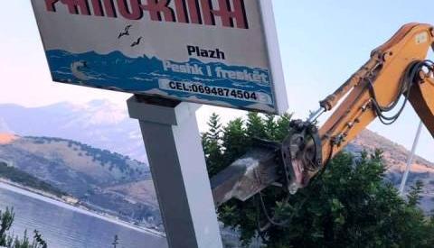 "IKMT nis shembjen e bar restorant ""Panorma"" ne Porto Palermo... 21.08.2019"